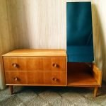 Vintage Dressing Table Drawers w/ Mirror by Meredew