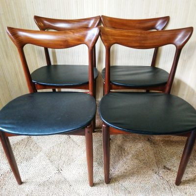 MCM Set of 4 H W Klein Bramin Danish Teak Dining Chairs