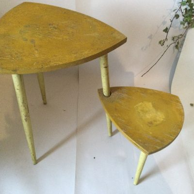 1960s Chippy Paint Swivel Plant stand