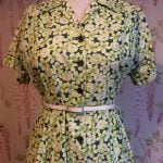 1940s COTTON DAISY PRINT DRESS