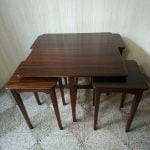 Vintage Nest of Five Teak Coffee Sofa Side End Tables