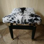 Vintage G Plan Librenza E Gomme Dressing Table Stool Real Goat Skin