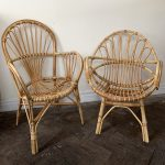 Two Vintage Bamboo Chairs
