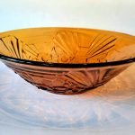 Jobling 'flower' bowl in Amber