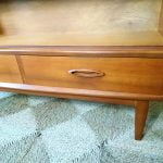 Vintage Jentique Teak Bookcase Display Cabinet Drawers Glass Doors