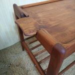 Vintage Danish Teak Removable Tray Coffee Side End Table