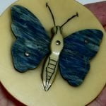 Stunning 1930s French Galalith Butterfly Brooch.