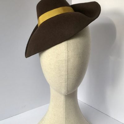 Hettie – 1940s-style day hat in wool felt