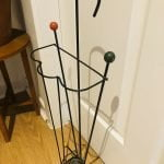 Retro Mid Century French Sputnik Iron Umbrella Stand