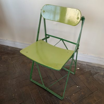 Vintage Green Folding Chair