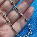 Stunning 1970s Sterling Silver Brutalist Necklace