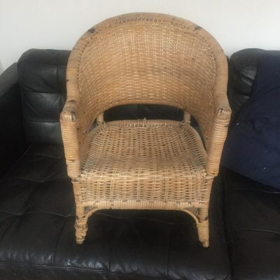 Mid Century Rattan Child's Chair