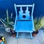 1950S CHILDS WOODEN PAINTED CHAIR