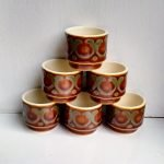 Set of 6 Hornsea Pottery Bronte Egg Cups