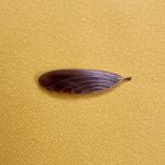 1950s Nylon and Brass Feather Brooch