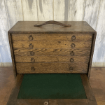 Antique Wooden Collectors Cabinet / Filing Drawers /Storage Box Office Paperwork