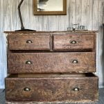 Antique Pine Stunning Uniquely Designed Chest Of Drawers