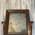 Original antique Aged distressed Wooden Swing Dressing Table mirror