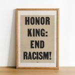 Honor King End Racism 1968 Poster Print