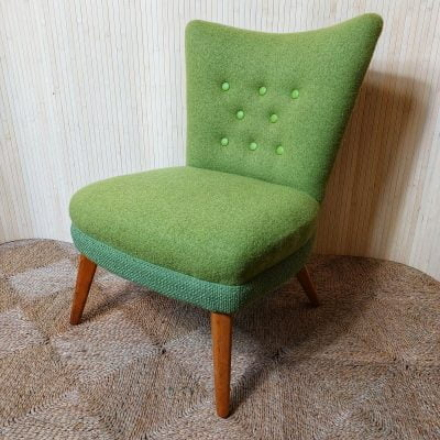 Vintage Petite Lime Green Cocktail Bedroom Accent Chair